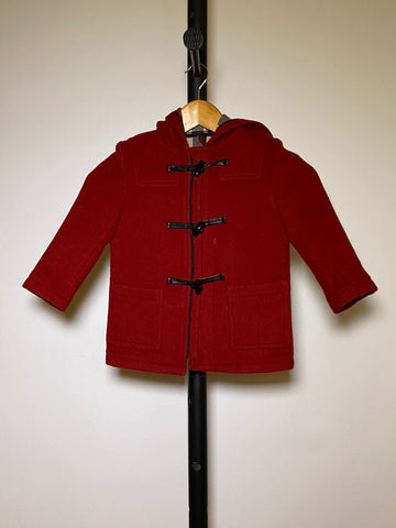 Scarlet Snow Belo's BURBERRY Kids Red Wool Duffle Coat