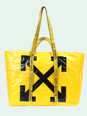 Rina Navarro's of I Am Hope's OFF-WHITE YELLOW ARROWS TOTE BAG