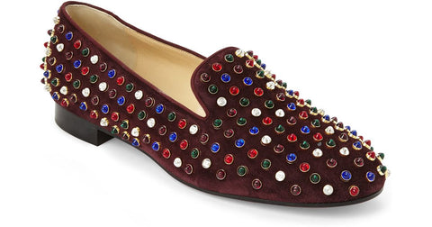 Karla Estrada's Christian Louboutin Women's Purple Wine Roller Cabo Smoking Flats