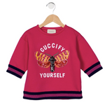 "Scarlet Snow Belo's GUCCI Kids ""Guccify Yourself"" Sweatshirt"