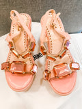 Anne Curtis's Moschino Cheap and Chic Pink Suede Platform Sandals
