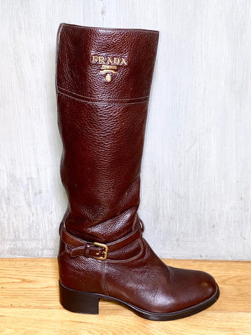 Toni Gonzaga's Prada Brown Leather Boots