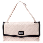 Regine Velasquez's Chanel Beige/Black Quilted Leather Mademoiselle Maxi Flap Shoulder Bag