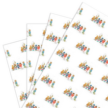 Load image into Gallery viewer, Wrapping Paper, The Carol Singers - Christmas (4 sheets)