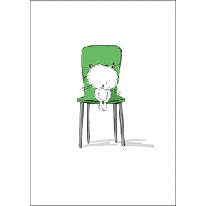 Sitting Nicely (A4 hand signed print)