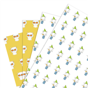 Wrapping Paper - Mixed Cecil pack (4 sheets)