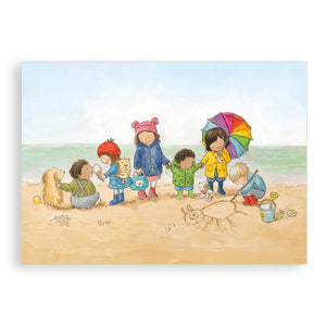 Greetings card - Fun at the Beach