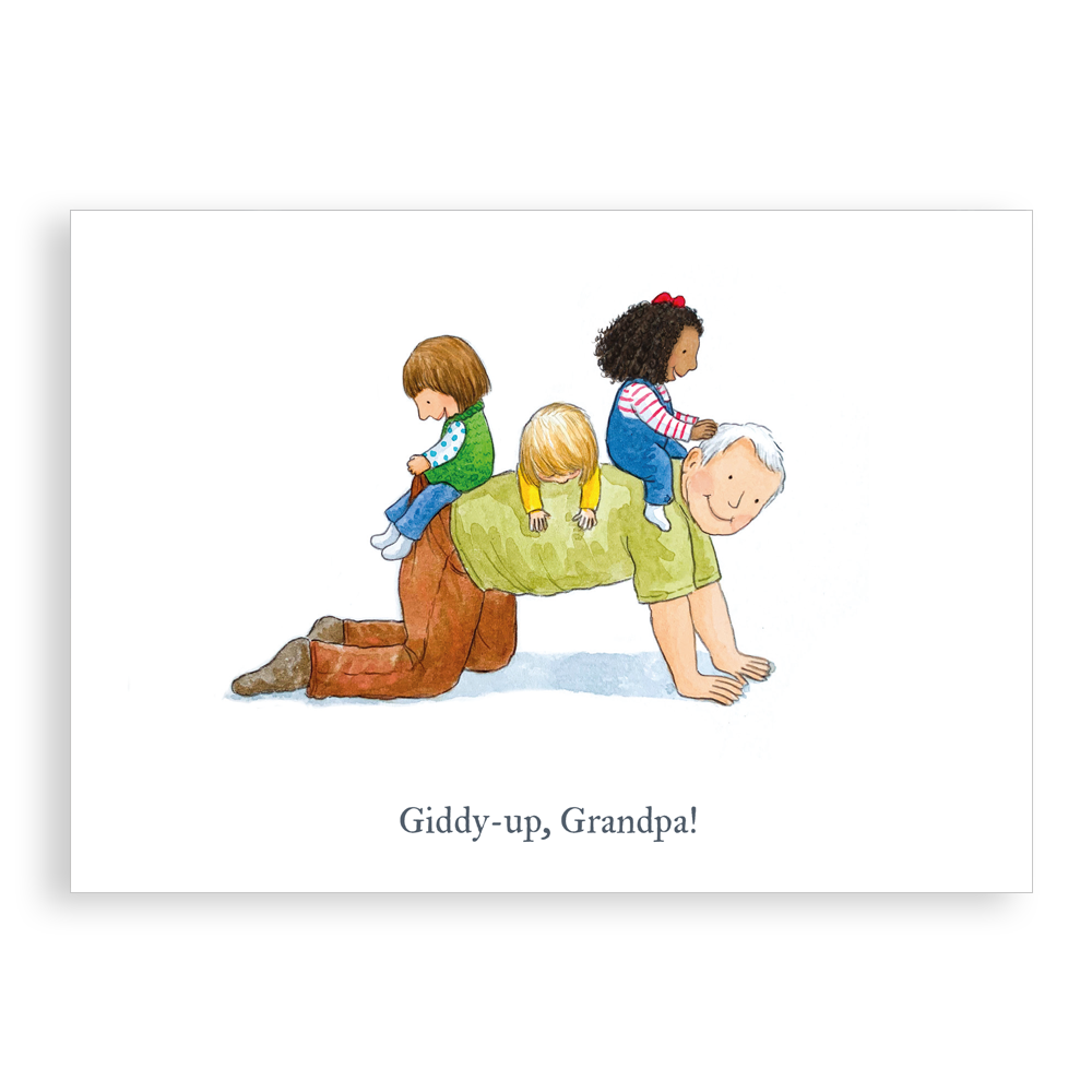 Greetings card - Giddy-up, Grandpa!