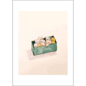 Grumpy Kittens (A4 hand signed print)