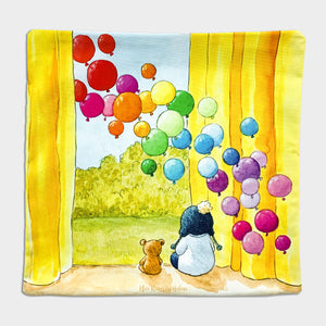 Happy Days - Cotton Cushion Cover