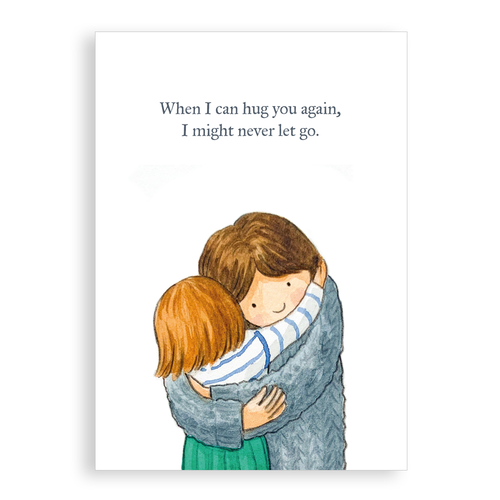 Greetings card - Never let go