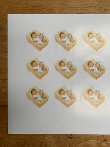 Sheet of 15 stickers - Baby Jesus