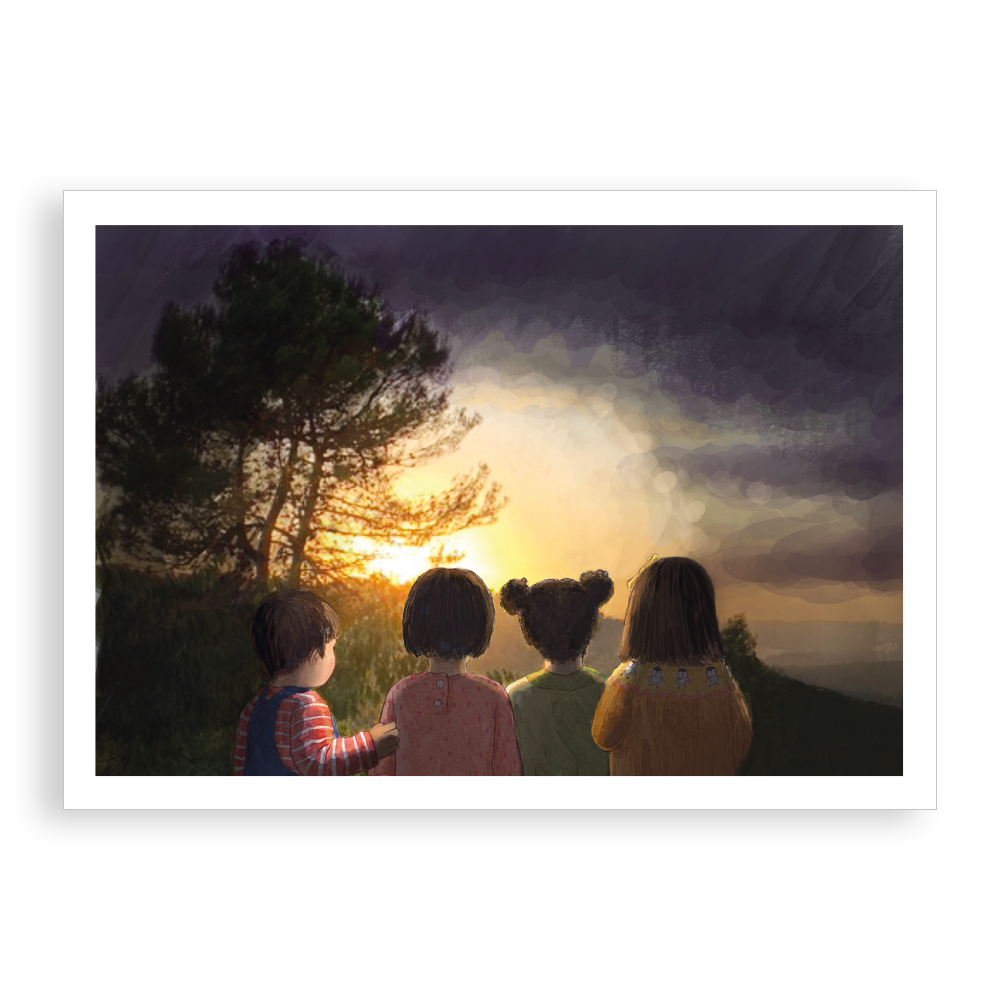 Greetings card - Light in the Darkness