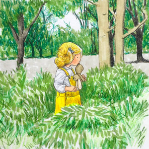 Looking for fairies - Original signed artwork in marker pen and pencil crayon