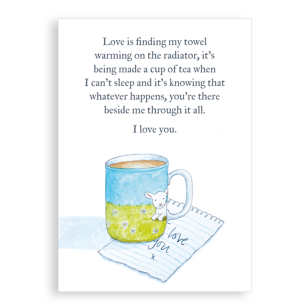 Greetings Card - Love is (Mug)