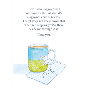 Love is (Mug) - (A4 hand signed print)