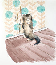Load image into Gallery viewer, Naughty Cat - Original signed painting in black ink and watercolour