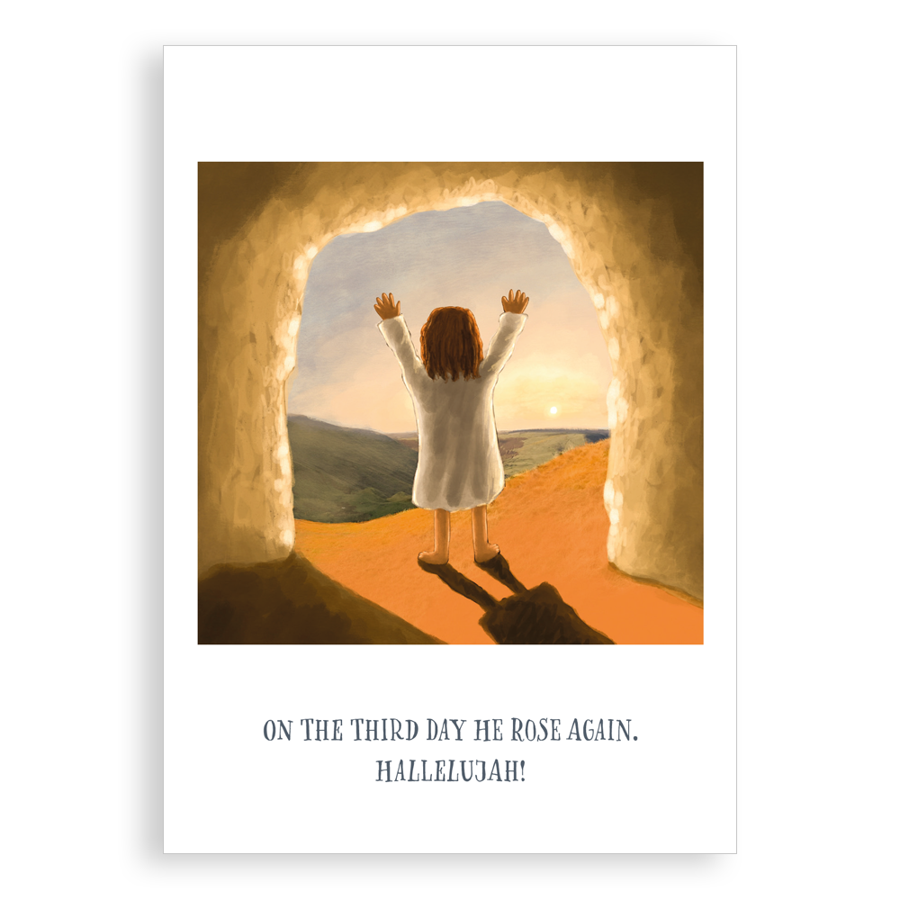 Easter card - On The Third Day He Rose Again