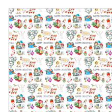 Load image into Gallery viewer, Wrapping Paper, Happy Christmas - Christmas (4 sheets)