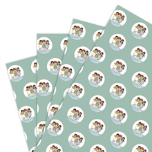 Load image into Gallery viewer, Wrapping Paper - Friends at the Seaside (4 sheets)