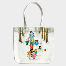 Load image into Gallery viewer, Snowy Walk - Cotton Tote Bag
