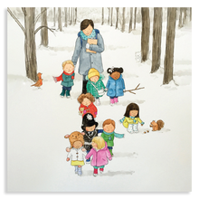 Load image into Gallery viewer, Sheet of 15 stickers - Snowy Walk