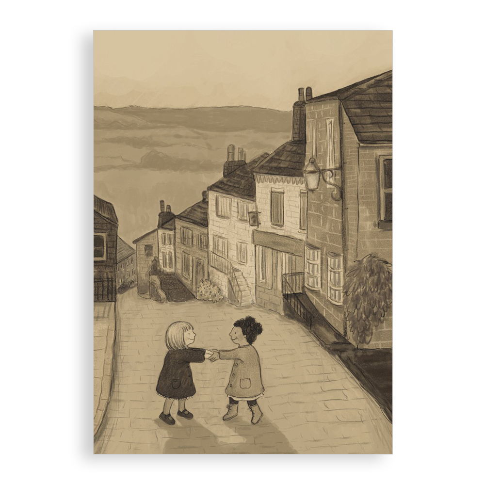 Greetings card - Two Little Friends