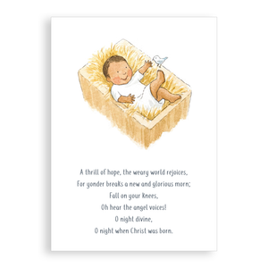 Pack of 5 printed Christmas cards - Baby Jesus