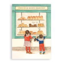 Load image into Gallery viewer, Greetings card - The Bakery