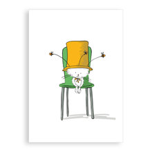 Load image into Gallery viewer, Greetings card - Cecil's bee hat
