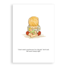 Load image into Gallery viewer, Greetings card - Not Such a Big Girl