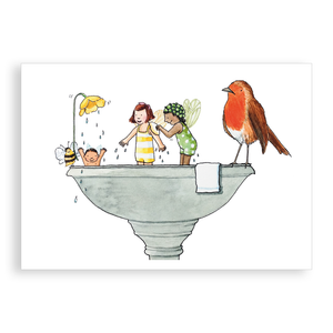 Fairy Bath - A6 postcard