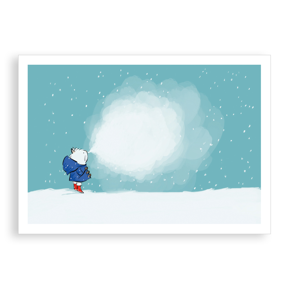 Pack of 5 printed Christmas cards - It's Cold Outside