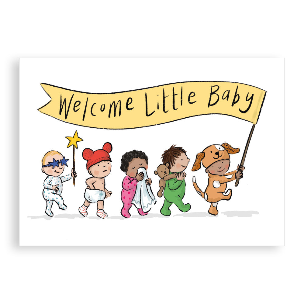 New baby card - Welcome Little Baby