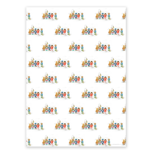 Wrapping Paper, The Carol Singers - Christmas (4 sheets)
