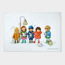 Load image into Gallery viewer, The Carol Singers - Tea towel