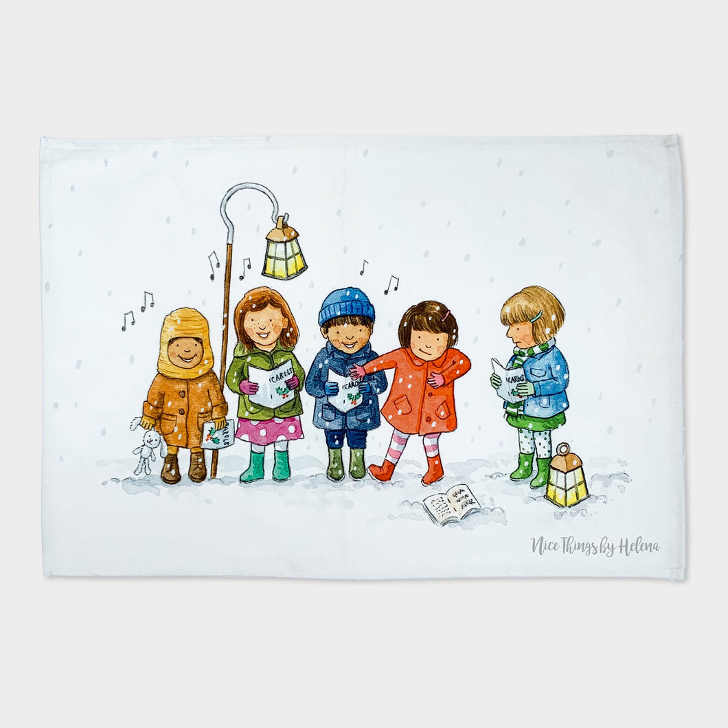 The Carol Singers - Tea towel
