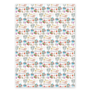 Wrapping Paper, Happy Christmas - Christmas (4 sheets)