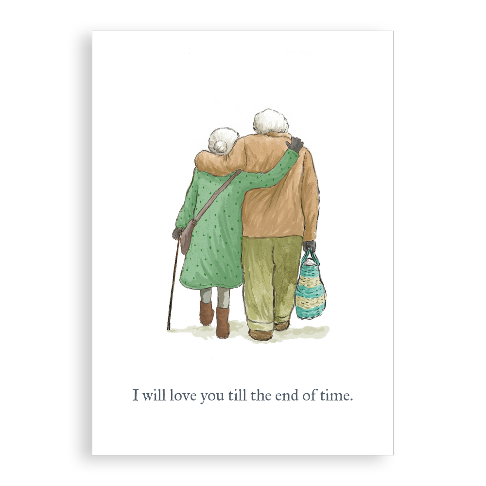 Greetings card - Till the End of Time