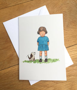 Greetings card - Happy Little Puppy