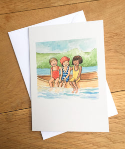 Greetings card - A Day on the River