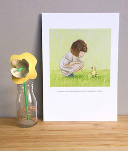 Lost Duckling (A4 hand signed print)