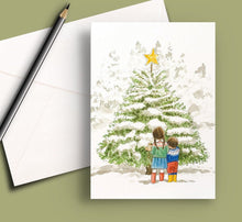 Load image into Gallery viewer, Pack of 5 printed Christmas cards - Star of Wonder