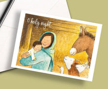 Load image into Gallery viewer, Pack of 5 printed Christmas cards - O Holy Night