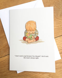 Greetings card - Not Such a Big Girl