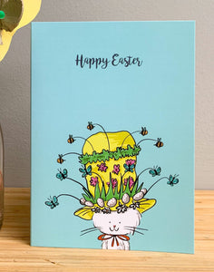 Easter card - Cecil's Easter bonnet