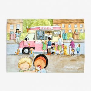 Ice Cream Van - Tea towel