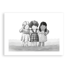 Load image into Gallery viewer, Greetings card - Paddling with my friends