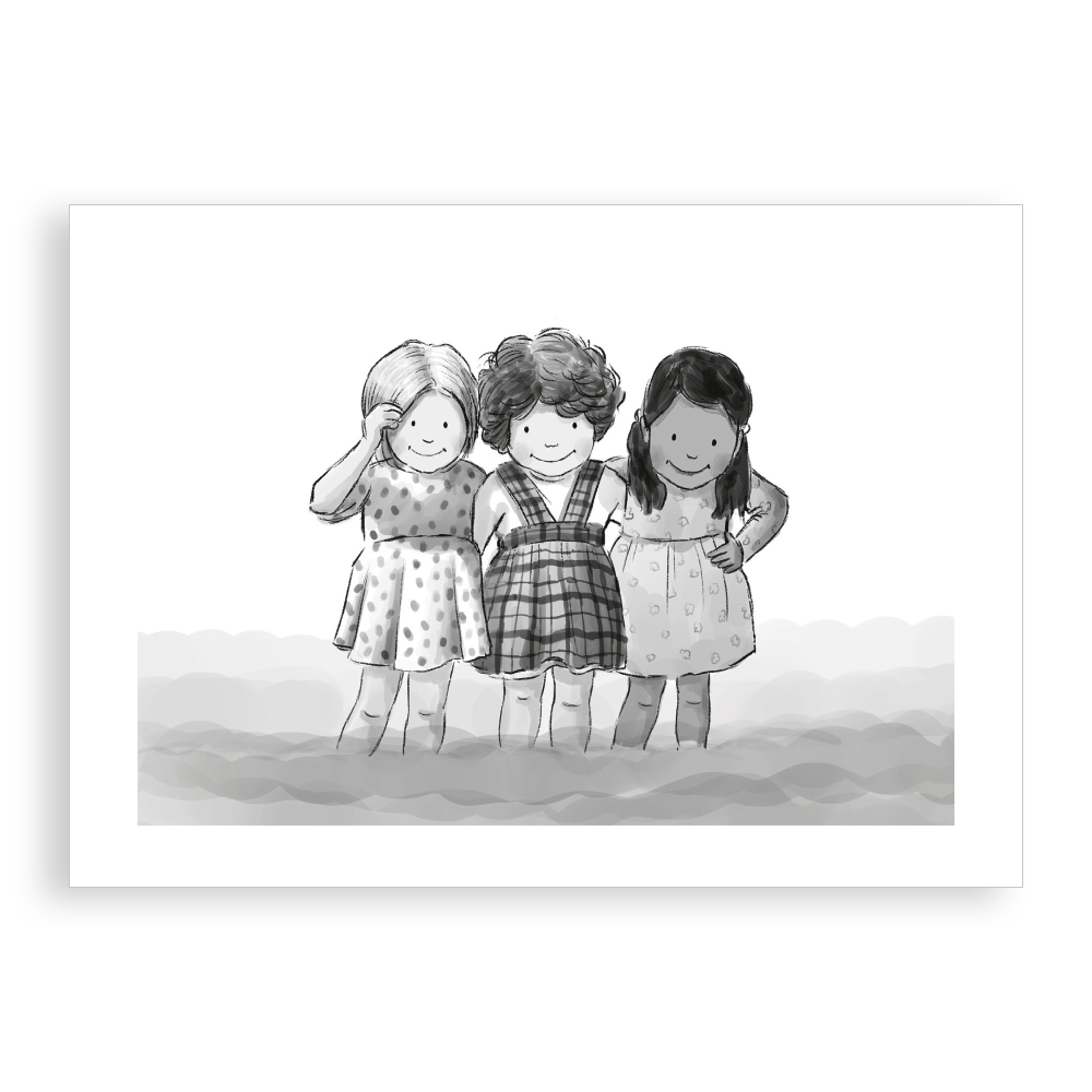 Greetings card - Paddling with my friends