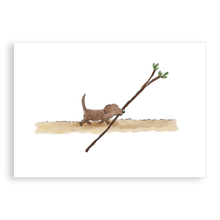 Load image into Gallery viewer, Greetings card - Puppy's best stick